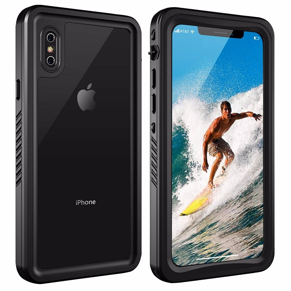 For iPhone X/Xs Waterproof case life water Shock Dirt Snow ...