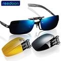 Óculos de Armação Óculos De Sol Clipe Lente Polarizada óculos de Marca Homens/Mulheres Coating Miopia Clipe óculos de Sol Óculos de Visão Noturna de Condução de Vidro 2202