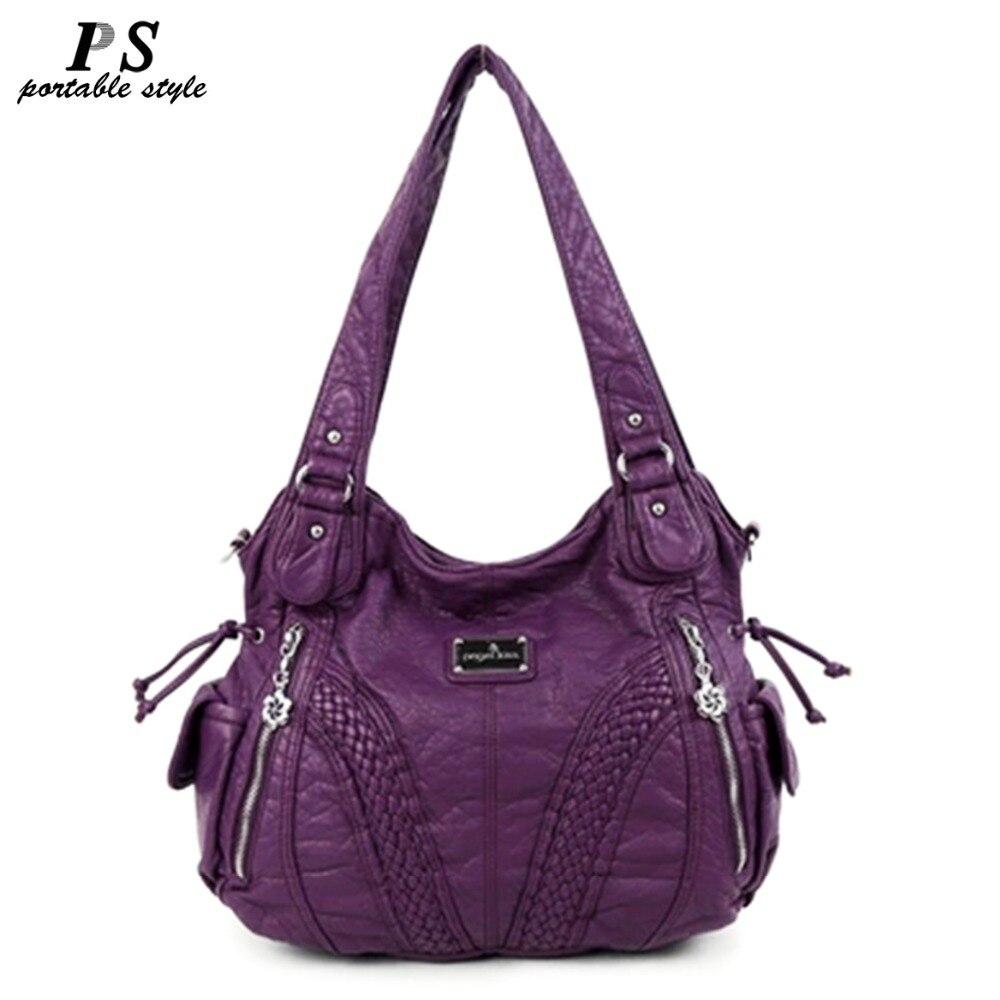 Mode de haute qualité décontracté Designer Hobos fourre-tout sac à main femmes sacs en cuir véritable en peau de mouton épaule sacs à bandoulière pour dames