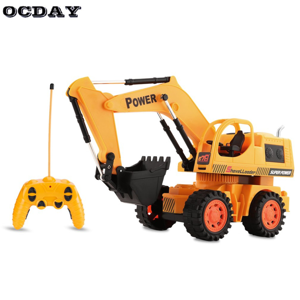 OCDAY Toys RC Excavator Charging 1:10 RC Car With Battery Radio Remote Control Stunt Digger Model Engineering Vehicle Toy Car
