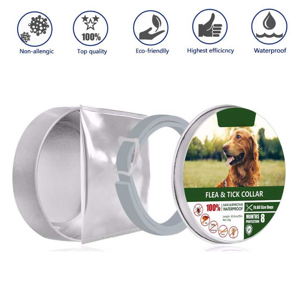 Dewel Anti Flea Mosquitoes Ticks Dog Collar Insect Waterproof Herbal Pet Collar 8 Months Protection Dog Accessories