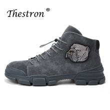 2019 Trend Men Working Boots Black Brown Male Fur Boots Rubber Sole Male Motorcycle Boots Comfortable Youth Fashion Mens Shoes waterproof rubber rainboots high top shoes cheap fishing boots men black rain sole tall 2017 fashion short comfortable male