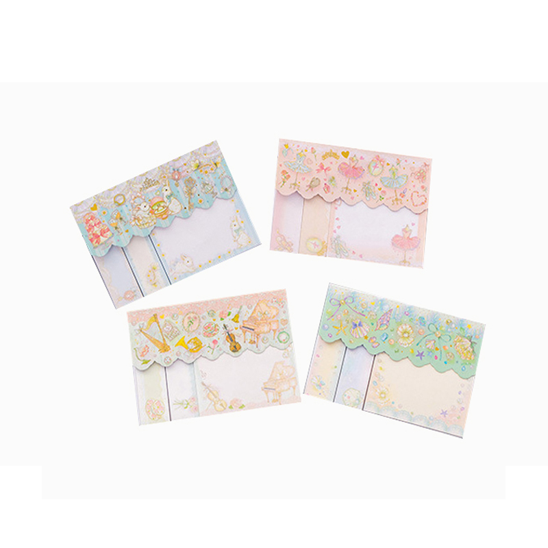 1pack lot kawaii Simple Memo Pads Sticky Notes Kawaii Vintage DIY Paper Notepad Scrapbooking Stickers Office School Bookmark in Stickers from Home Garden