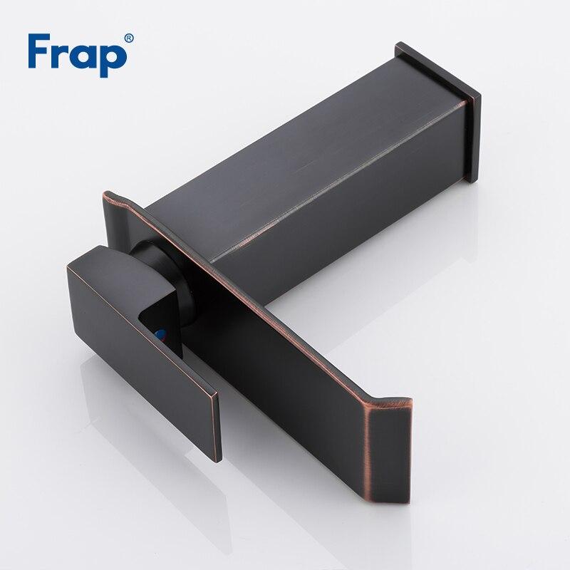 Черный смеситель для раковины Frap, кран с одной ручкой, кран для раковины, кран для ванной комнаты Y10142