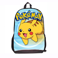 Japanese Cartoon Kawaii Pokemon School Bags Backpack for Kids Mochila Escolar Primary Fashion School Back Pack for Boy Girl