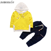 2017 Autumn Children Girls Clothing Set Baby Leisure Letter Cotton Hoodies Long Sleeve T Shirts Pants