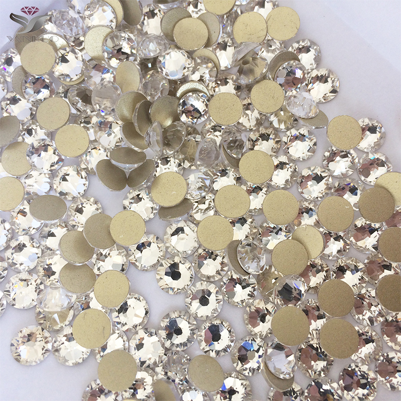 YANRUO 2058NoHF SS20 Krystall Non HotFix Rhinestones Nail Art Flatback Rhinestones HotFix Krystaller Stones For Clothes