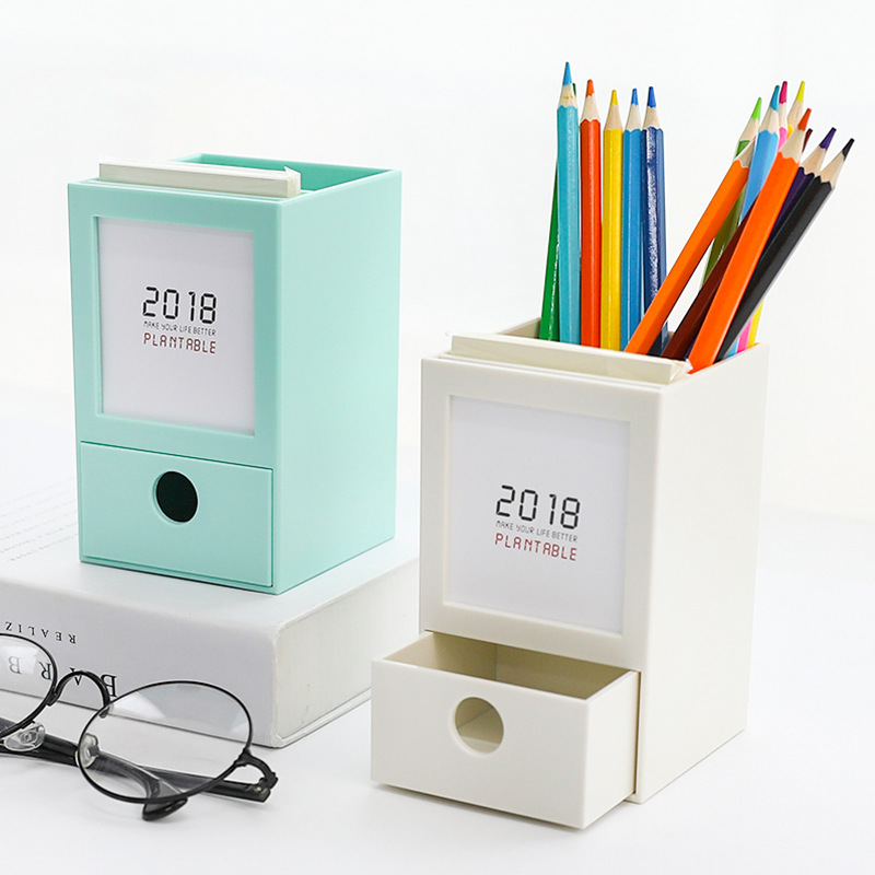 Fashion creative pen holder Drawer Wooden cute pen holder Desktop wooden storage box office stationery coloffice 1pc creative 21 8 5 28cm wooden bookends multifunctional storage retro key box wall decoration desktop bookend supplie