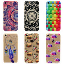 Soft Transparent Tpu Cases Phone Cover For iphone 7 Case Beautiful Pattern Soft Back Cover For Apple Iphone 7 4.7 inch Shell