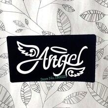 Ангельские крылья, буквы, хна, индина, шаблон татуировки, водонепроницаемый, менди, трафареты для татуировки, трафареты для аэрографа, живопись, тату, инструменты для макияжа