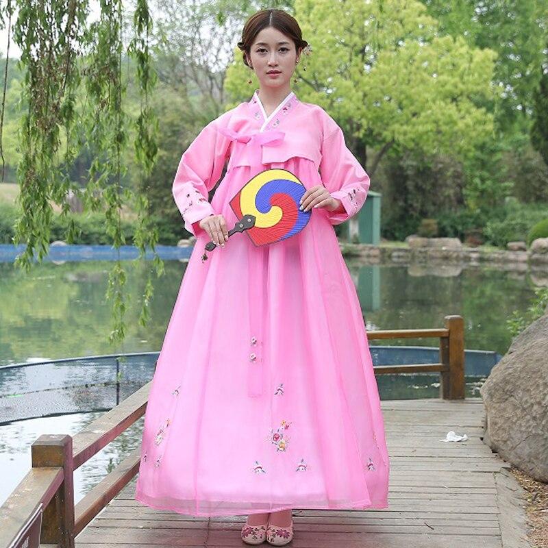 Brand New Tradizionale Coreano Hanbok Vestiti Asia Abiti Tradizionali Per  Le Donne Abiti Da Sera Costumi Cantante in Brand New Tradizionale Coreano  Hanbok ... 98e6ec4b646