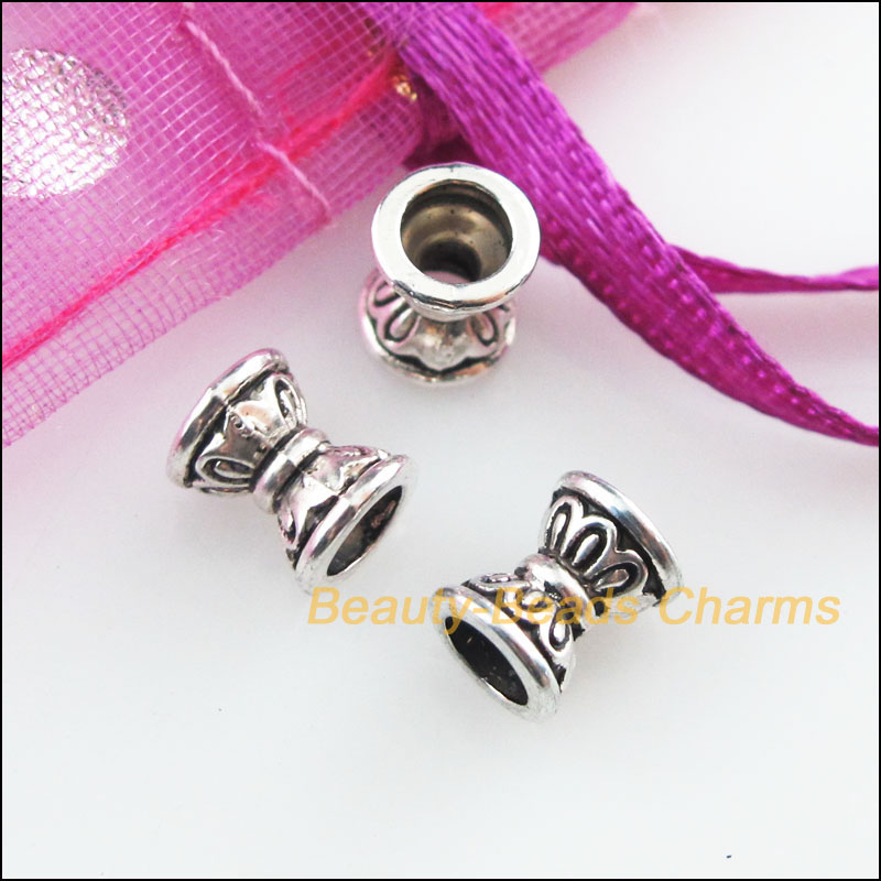 20pcs Tibetan Silver Charms Square OVAL Spacer Beads Frame DIY Accessories