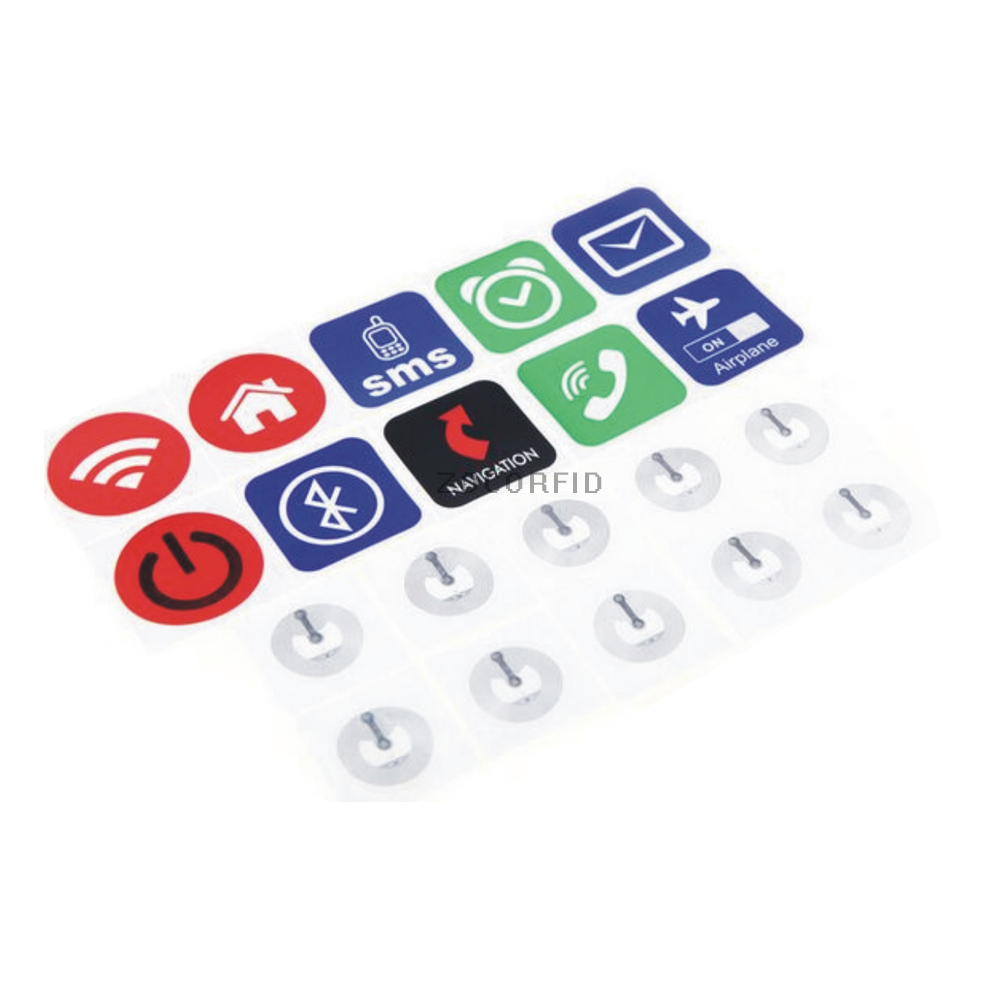 Universal 10(10style)pcs Waterproof NTAG203 NFC Tag Stickers RFID Adhesive Label For For All NFC Mobile Phone