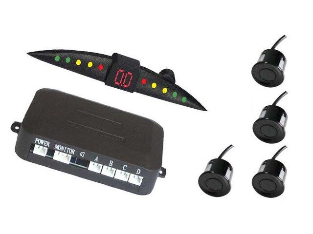 Car reverse sensor radar detector led display led parking sensor with 4 sensors Reverse Assistance Backup Radar Monitor System