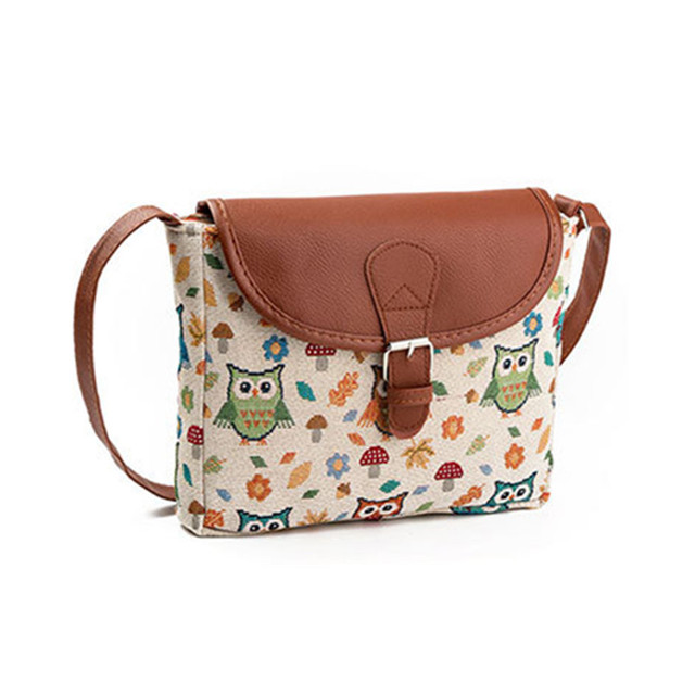 5ca256420205c Fashion Women Bag Canvas Women Handbag Casual Tote Bag Cute Owl Shoulder Bag  Lady Handbags Large