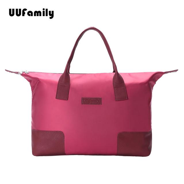 UU Family 2015 New Dobrável sacola de Viagem mulheres mochila de Viagem bag homens de grande capacidade sacos de noite super luz tote weekender homens
