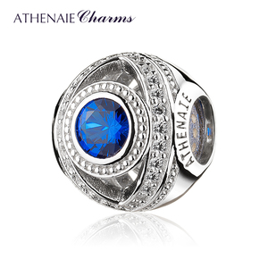 Image 1 - ATHENAIE 925 Sterling Silver Watchful Eye Blue Clear CZ Bead Charms Fit European Women Bracelets Christmas Gift Jewelry