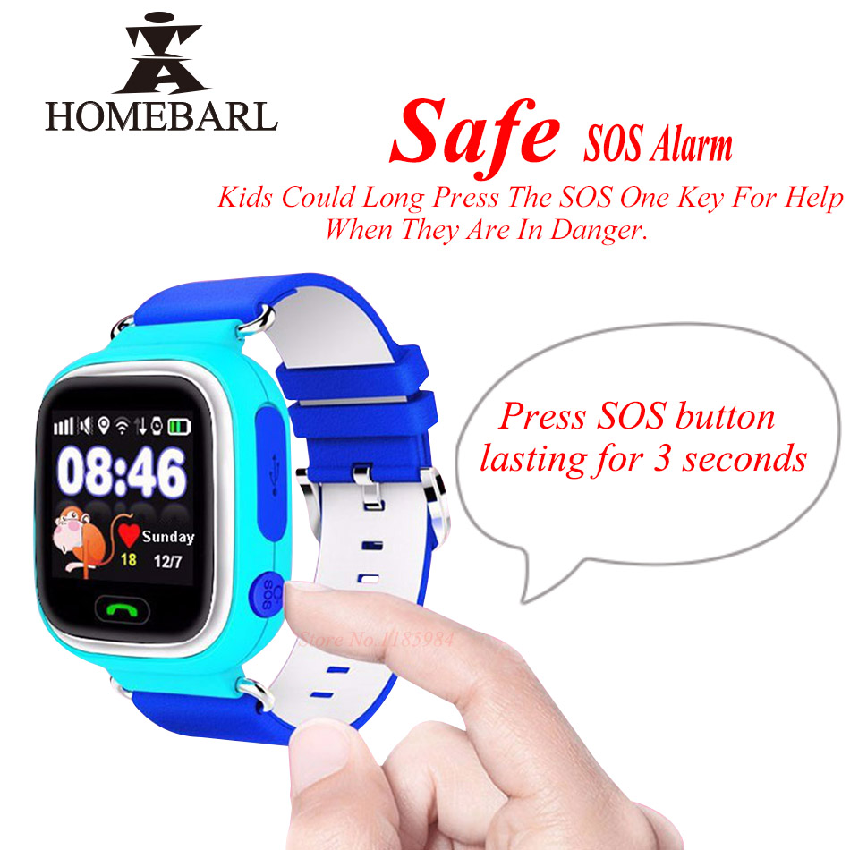 2019 Latest Design New Arrival Q90 Gps Phone Wifi Positioning Kids Children Watch 1.22 Inch Color Touch Screen Sos Smart Watch Pk Q50 V7k Q80 Q60 Skillful Manufacture Smart Electronics Wearable Devices