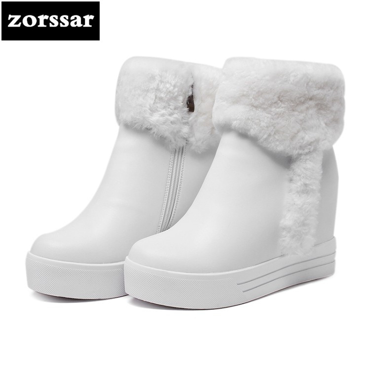 {Zorssar} 2018 Nouveau hiver Chaud En Peluche femmes neige bottes à talons hauts cheville bottes plate-forme chaussures talons botas nieve mujer invierno
