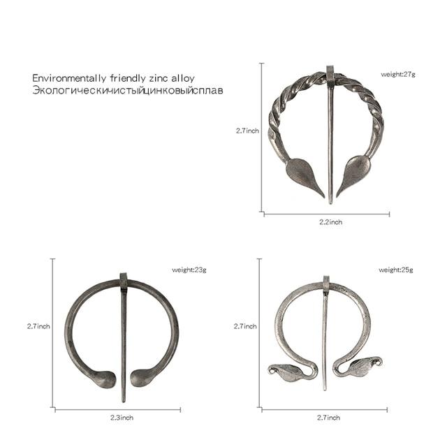 QIHE JEWELRY Penannular 바이킹 브로치 망토 핀 중세 걸쇠 바이킹 쥬얼리 노르웨이 쥬얼리 숄 액세서리