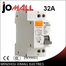 DPNL 1P+N 32A 230V~ 50HZ/60HZ Residual current Circuit breaker with over current and Leakage protection RCBO dz47le residual current circuit breaker with surge protector rcbo small mcb rccb with lightning protection spd