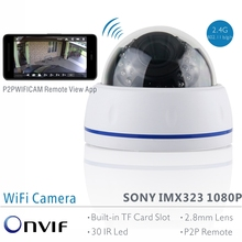 ANTS Full HD SONY IMX323 1080P 2 Mega Pixel Onvif/RTSP WiFi Weatherproof IP Camera with TF Card Slot Motion Detection Recording