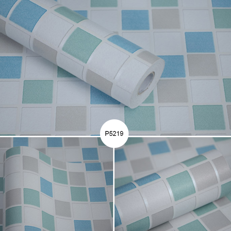 Купить с кэшбэком Self Adhesive Waterproof Mosaic Wallpaper Kitchen Oil Proof Stickers High Temperature Cooktop Cabinets Hood Tile Wall Stickers