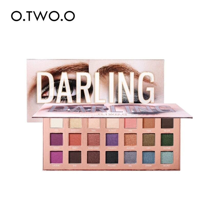 O. DOIS. O 21 Color Matte Shimmer Da Paleta Da Sombra Pigmentada de Alta Olho Sombra Em Pó Maquiagem de Longa Duração Brilho Sombra de Olho