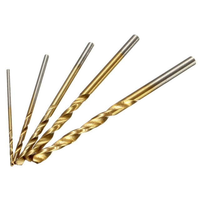 High Speed Steel Wood Drilling Metalworking Power Tool Hot Sale50Pcs/Set Titanium Coated Twist Drill Bit Set 1/1.5/2/2.5/3mm