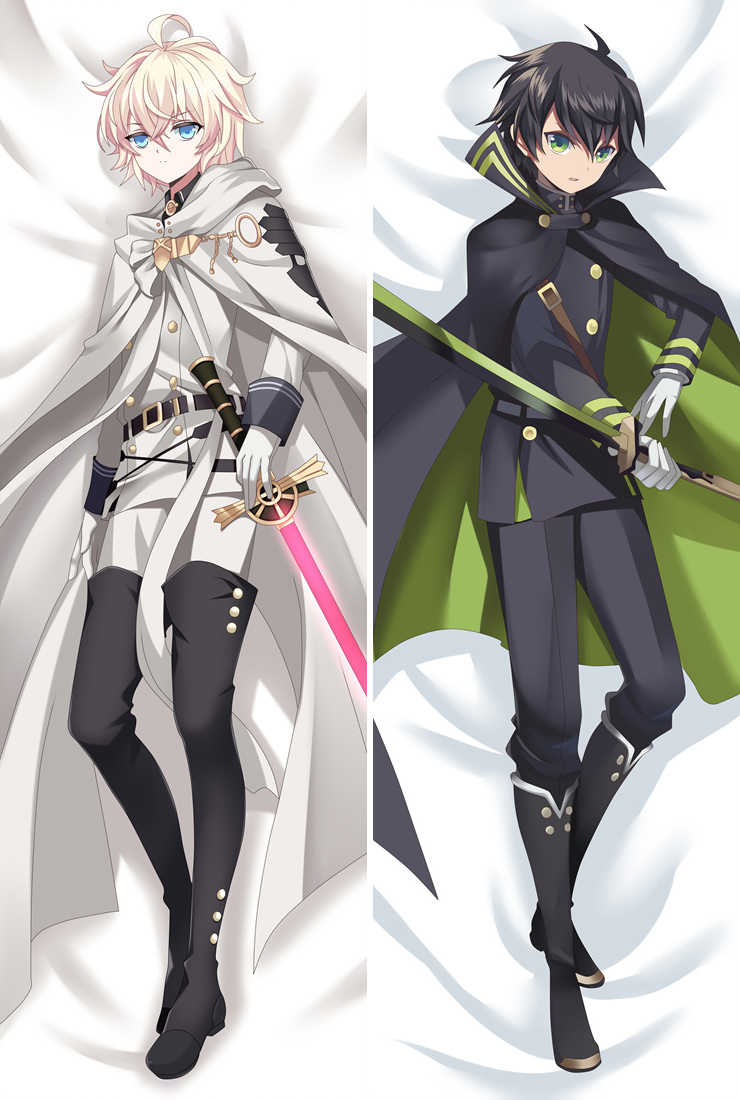 Anime Seraph of the End Owari no Seraph Yuichiro Hyakuya & Mikaela Hyakuya Dakimakura throw pillow cover hugging body pillowcase