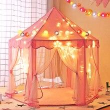 Складной тент Tipi для детей, игровой домик, Вигвама, портативные игрушечные палатки для детей, для маленьких девочек и мальчиков, для улицы, в помещении, игровой домик, Замок принцессы