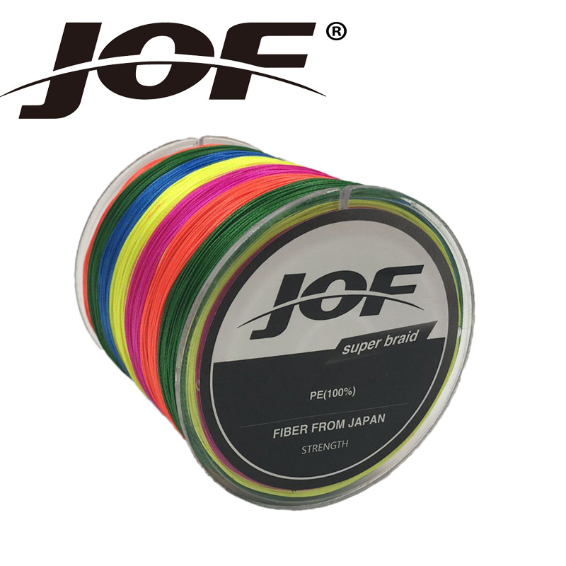 JOF 150M 8 strands Japan pe braided fishing line multifilament fishing Wire for all fish ...