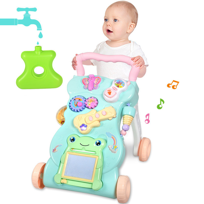 Baby Walker Baby First Steps Car Toddler Trolley Sit-to-Stand Walker for Kid's ABS Musical Walker with Adjustable Screw цены онлайн