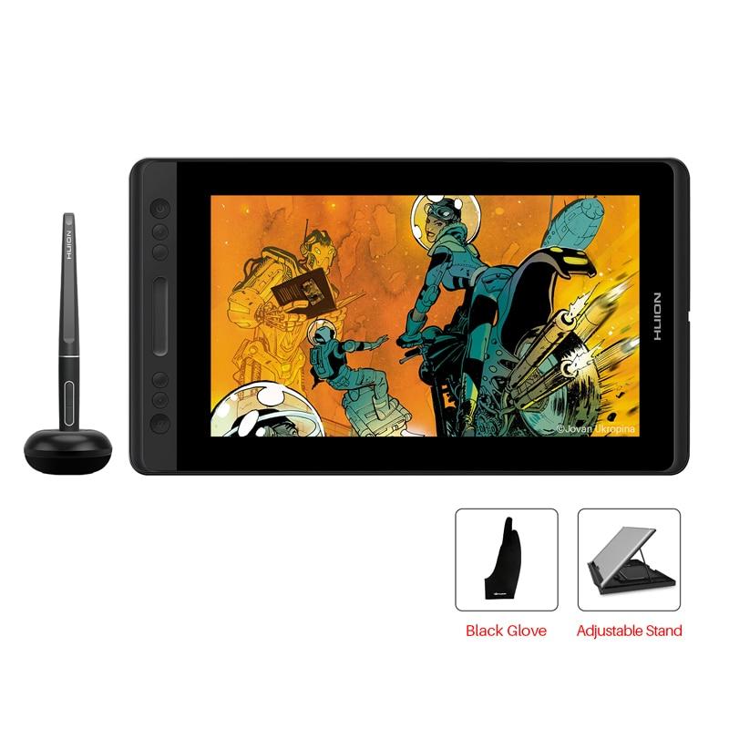 HUION Kamvas Pro 12 GT-116 pluma tableta Monitor arte gráficos dibujo pluma Monitor con regalo gratis Gl