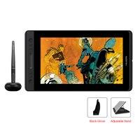 Huion kamvas pro 12 GT-116 펜 태블릿 모니터 아트 그래픽 드로잉 펜 디스플레이 모니터 무료 선물 gl