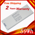 "White 59Wh Laptop Battery For APPLE A1185 MA566 MA566FE/A  MA566G/A MA566J/A For MacBook 13"" A1181 MA472 MA701 MA701B/"