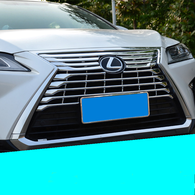 lsrtw2017 car-styling car head grill trim for lexus rx200t rx350 rx450h 2015 2016 2017 2018 AL20 new arrival for lexus rx200t rx450h 2016 2pcs stainless steel chrome rear window sill decorative trims