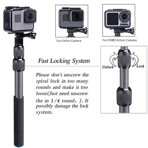 Image 2 - Smatree S3C Carbon Fiber Detachable Extendable Floating Pole for GoPro Hero 8/7/6/5/4/GOPRO HERO 2018,for DJI OSMO Action Camera