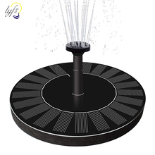 1.4W Round Shaped Solar Fountain Water Floating Fountain Pump Outdoor Bird Bath Fountain Pool Pump For Pond Garden Decoration