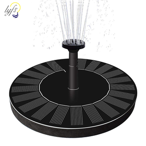Image 1 - 1.4W Round Shaped Solar Fountain Water Floating Fountain Pump Outdoor Bird Bath Fountain Pool Pump For Pond Garden Decoration