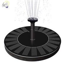 1.4w em forma redonda fonte solar água flutuante fonte bomba de água ao ar livre pássaro banho fonte piscina bomba para lagoa decoração do jardim