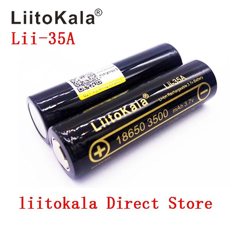 100% Original Lii-35A LiitoKala 18650 Bateria Recarregável 3500 mAh 3.7 v Baterias de Iões de lítio 18650 Bateria/UAV