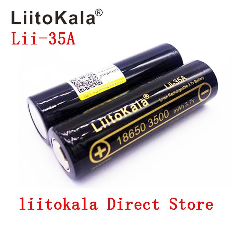 100% original liitokala Lii-35A 18650 3500 mah bateria recarregável 3.7v li-ion baterias 18650 bateria/uav
