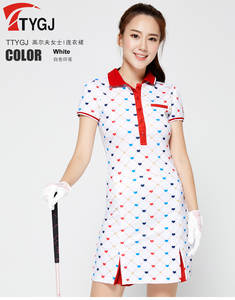 Sportswear Golf-Skirt Women Tennis-Dress Ladies Print Elastic Colorful Quick-Dry Breathable
