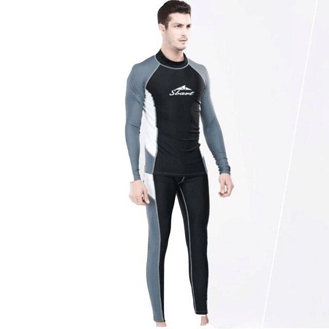 a1dc3fad03 2018 Women Men Long sleeve Rashguard Snorkel Dive Surf Swim Bathing  Triathlon Suit Swimsuit Beach Wear Swimwear Nylon Wetsuit