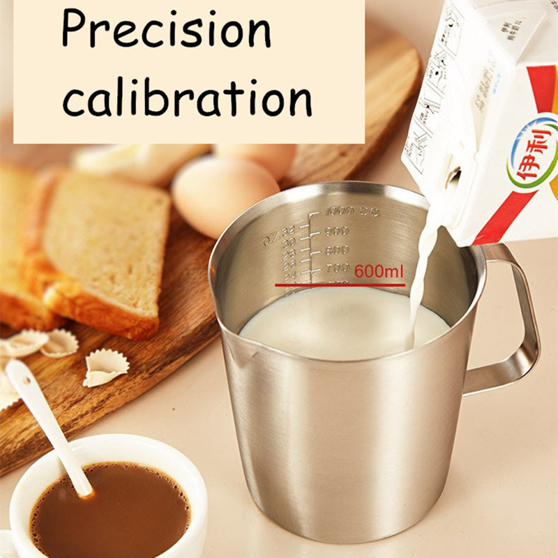 Large Capacity hot sale Stainless steel Measurement Marking coffee percolator Cappuccino foaming garland cup tea milk moka pots in Coffee Pots from Home Garden