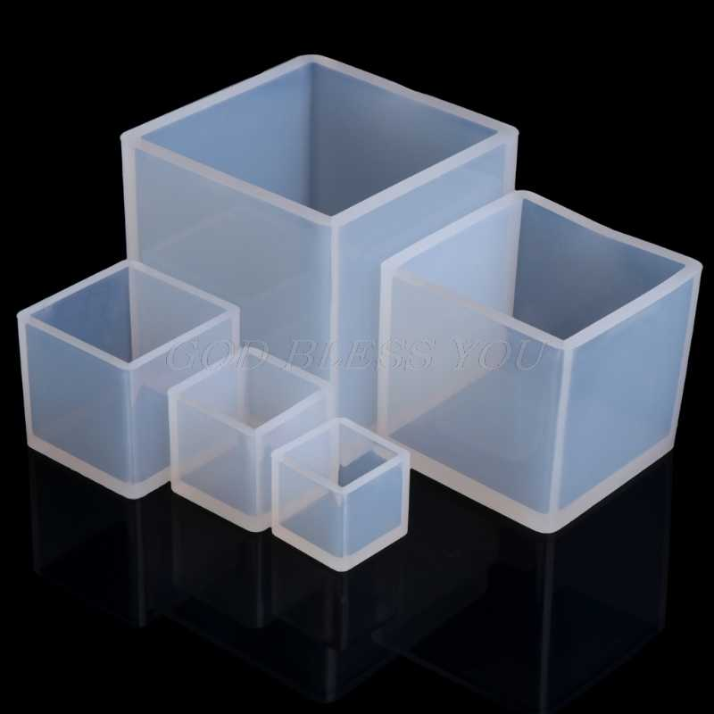 20/25/35/50/65mm DIY Silicone Pendant Mold Jewelry Making Cube Resin Casting Mould Craft Tool New
