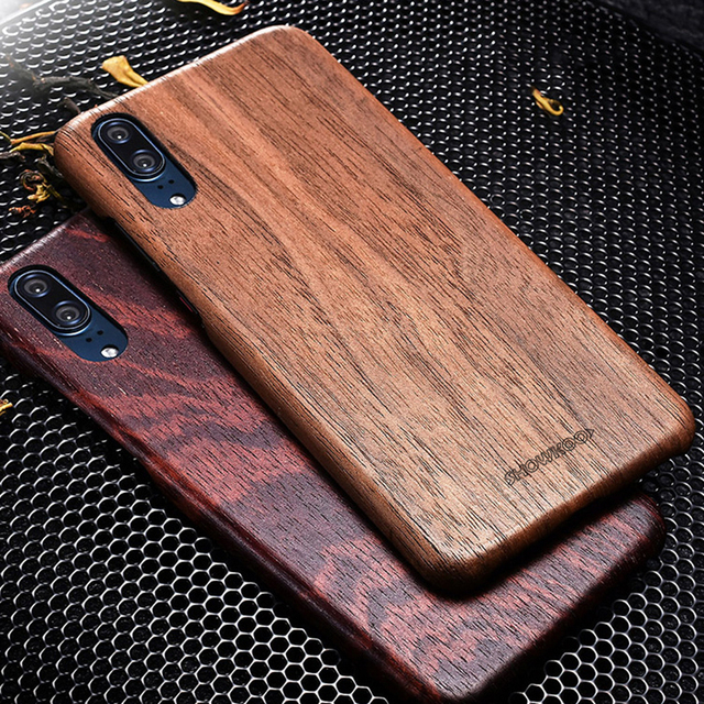 new concept 40e98 e0e53 Showkoo Natural Wood Phone Case For Huawei P20/P20 Pro Phone Case Original  Wood+Fiber Perfect Combination Back Cover For Huawei