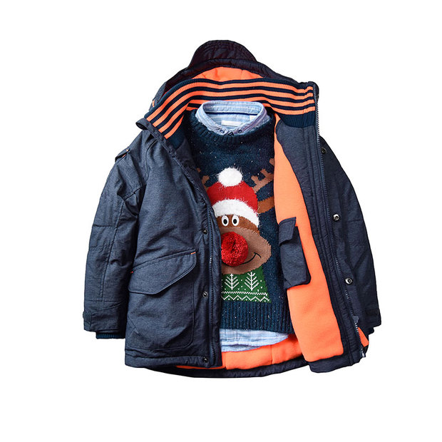 Foreign Trade Children's Clothing Winter Boy Long Section of Cotton Jacket Quilted Jacket Children Baby Windproof Clothing laundry by shelli segal quilted leather jacket
