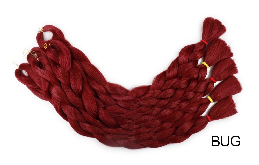 cabelo crochê para tranças vermelho 165 g pacote
